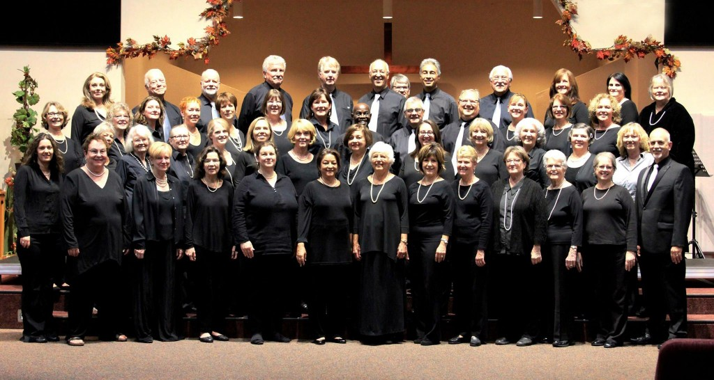 The 2015 Healdsburg Chorus with director Jim Humphreys and founding accompanist Susan Nelson